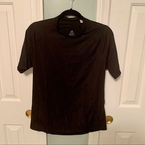 ADIDAS Techfit compression black tshirt sz large.